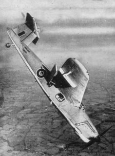 Fairey Barracuda in a dive. Fleet Air Arm, Royal Navy.
