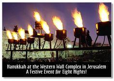 Wow! Hanukkah at the Western Wall!