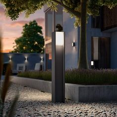 Philips Hue Turaco LED path light with app control Led Path Lights, Pillar Lights, Outdoor Wall Lighting, Outdoor Walls, Philips Hue App, App Control, Kit Homes, Slippery Floor, Smart Home