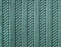 Knitting Galore: Saturday Stitch : Moss Stitch Ribs  mof8+9+2