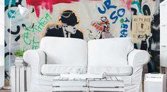 London Graffiti Art Wall Mural   #eazywallz #wall #murals #home #decor #wallpaper