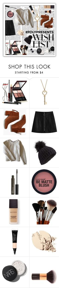 """""""#PolyPresents: Wish List"""" by beanpod ❤ liked on Polyvore featuring Kevyn Aucoin, Madewell, Anine Bing, Miss Selfridge, NYX, Bobbi Brown Cosmetics, Laura Mercier, contestentry and polyPresents"""