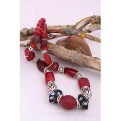 Collier unique et original, perles de verre façon vintage! Bijoux de cérémonie!