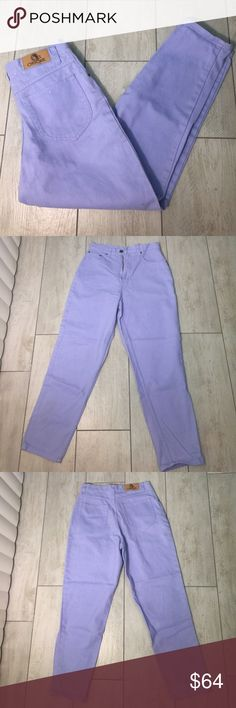"""Periwinkle Denim Cotton High Waisted Jeans Vintage Periwinkle Denim Cotton High Waisted Vintage Jeans   Size: 8P (US Women's) 29"""" waist   26"""" inseam   37.5"""" side seam   Condition: Pre-owned (Worn, no flaws, excellent condition!) Vintage Jeans"""