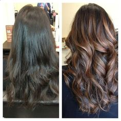 Balayage (painted-on) highlights. What a perfect way to perk up brunette hair..jpg 1,0001,000 pixels