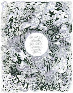 Textile Patterns Postcard Coloring Book