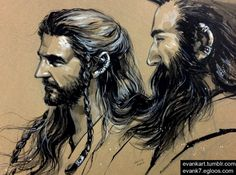 Young Thorin and Dwalin in Erebor by_evankart-d6djlh6