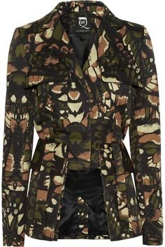 McQ Alexander McQueen | Butterfly Camouflage printed cotton jacket | NET-A-PORTER.COM