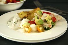 Hähnchen- Avocado- Salat mit Ofenkartoffel