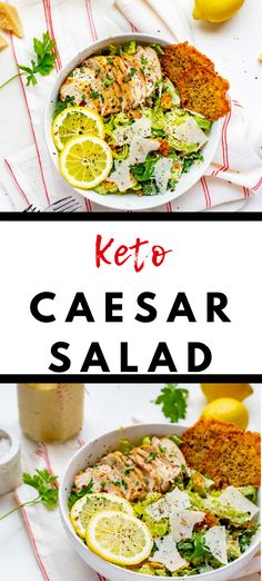 You don't want to miss this easy and healthy Keto Caesar salad recipe! With a delicious homemade dressing, this is a low carb salad recipe you will turn to again and again. #KickingCarbs #KetoCaesarSalad #LowCarbRecipe #GlutenFree Salad Recipes Low Carb, Keto Lunch Ideas, Homemade Dressing, Caesar Salad, Perfect Food, Ground Beef, Ketogenic Diet, Meal Prep, Beef