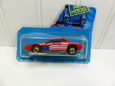 Hot Wheels 84 Fiero 2M4 Stars and Stripes; Hot Ones Series Pontiac Fiero GHO Red White Blue by naturegirl22 on Etsy