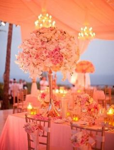 I would never do this for MY wedding, as its far too much pink, BUT I think this is really pretty and turned out well.
