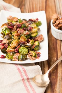 candied pecan bacon brussel sprouts recipe for a great side dish ohsweetbasil.com