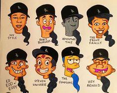 Cartoon Drawings, Cartoon Art, Art Drawings, Art Style Challenge, Drawing Challenge, Trill Art, Ariana Grande Drawings, Different Art Styles, Black Women Art