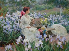 In the garden. Among the irises by Vladimir Gusev