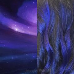 Deep Space Violet Blue Balayage by Jennifer Warner at Mode Salon Las Vegas NV. Hair Color For Vegas Night Life! Jennifer Warner, Hair Color And Cut, Deep Space, Hair Type, Night Life, Las Vegas, Salons, Northern Lights, Blue