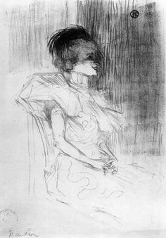 M.Lender Sitting, 1895, Henri de Toulouse-Lautrec