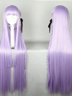 Japanese Dangan-Ronpa Series Kirigiri Kyouko Light Purple Color Cosplay Wigs 40 Inches
