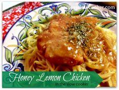 Honey Lemon Chicken in the Slow Cooker - The Sassy Slow Cooker