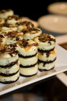 Turtle Cheesecake Bites