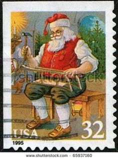 Santa U.S. postage stamp circa 1995