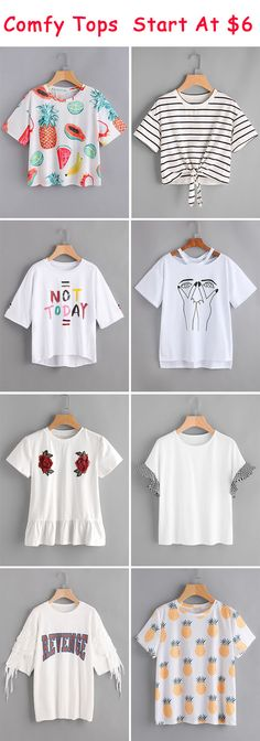 New diy summer shirts for teens cute outfits 38 ideas Shirts For Teens, Dresses For Teens, Outfits For Teens, Cool Outfits, Stylish Outfits, Tween Fashion, Teen Fashion Outfits, Summer Shirts, Summer Tops