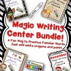 This bundle includes my previous Halloween and Fall Magic Writing Center Activities AND two new sets for November and December! Just have students ...