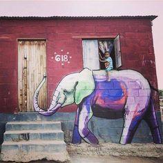 That thing goes beyond #streetart ! Artist: Falko One