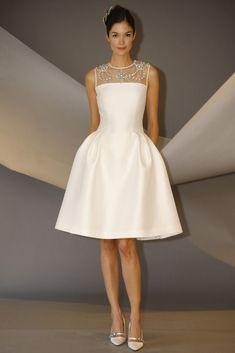 Vestido de novia corto de Carolina Herrera (FW 2014) #weddingdresses #NYBW