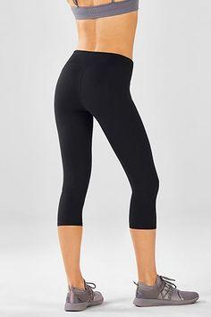 FABLETICS Debbie Capri Purple Camo Mesh Tights Run Yoga Crop Pants size XS