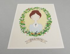 Beatrix Potter Print 8 x 10 Illustration Archival by SketchInc