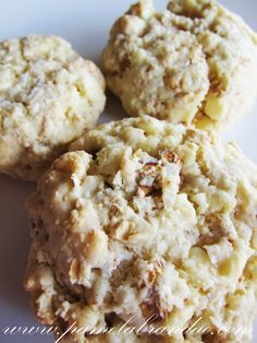 Cookies de Coco, Chocolate Branco e Aveia