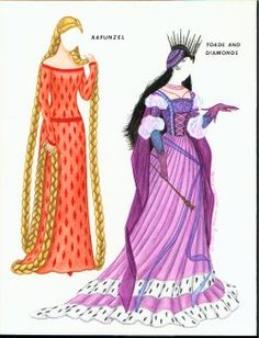 rapunzel  paper doll   Captain Scarlet in COLOR, Cinderella and Stepsisters, FAIRY GODMOTHER ...