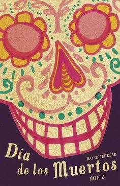 """Poster """"Día de los Muertos, Day of the Dead"""", via Flickr."""