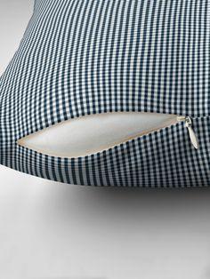 """Silent Night Blue Mini Gingham Check Plaid"" Throw Pillow by podartist | Redbubble Cheap Throw Pillows, Plaid Throw Pillows, Gingham Check, Silent Night, Usa Flag, Mini, Cushions, Blue"