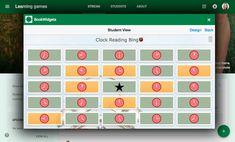 Learning game bingo in Google Classroom