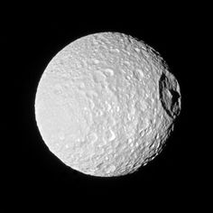 This image of Saturn's seventh largest moon, Mimas, was photographed when NASA's Cassini spacecraft was approximately 115,000 miles (185,000 km) away, on Oct. 22, 2016. Image credit: NASA / JPL-Caltech / Space Science Institute.