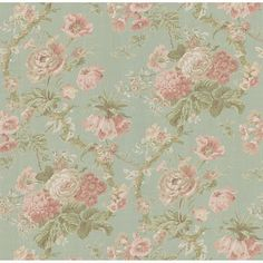 wallpaper with vintage roses!