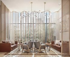 Not the right palette, but good layout and interesting use of wood for common space Hotel Lounge, Lobby Lounge, Hotel Lobby, High Ceiling Living Room, Hotel Reception, Office Reception, Interior Styling, Interior Design, Hotel Architecture