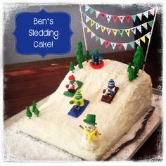 Sledding Cake! So much fun!