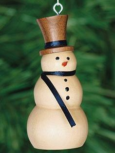 wood turning christmas ornaments | Wooden Snowman Ornament | Christmas Ornaments | Shaker Workshops