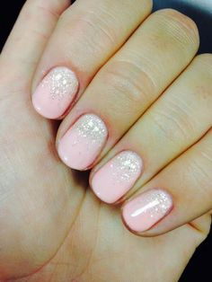 Frosted Pink Nails with glitter ombre - See the tutorial inside! Happy pinning!