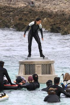 Catching+Fire+Beach+Scene   ... Gets Wet When Filming 'Catching Fire' Tribute Scene in Hawaiian Beach