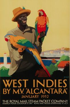 Percy Padden (1885-1965), 1932, West Indies by M.V. 'Alcantara', The Royal Mail Steam Packet Company.