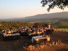 Mountain Top Sunset Picnic #kundefamilyestate #wineclub