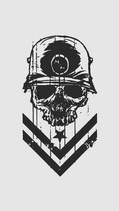 Kill Army Wallpaper, Skull Wallpaper, Cool Wallpaper, Wallpaper Backgrounds, Art Sketches, Art Drawings, Skull Artwork, Hypebeast Wallpaper, Metal Mulisha
