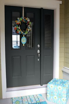 Beautiful Doors - entry door on gray house painted in Sherwin ...