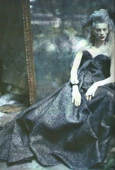 Kristen McMenamy in 'The Grand Couture' by Paolo Roversi for Vogue Italia September 2010