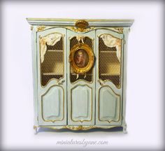 French Provincial  Dollhouse Armoire 112 scale by minijune on Etsy