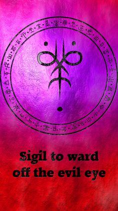 Wolf Of Antimony Occultism — Sigil to ward off the evil eye Protection Sigils, Symbole Protection, Wiccan Symbols, Magic Symbols, Viking Symbols, Egyptian Symbols, Viking Runes, Ancient Symbols, Magick Spells